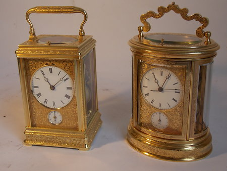Antique Carriage Clocks. eng c c 2