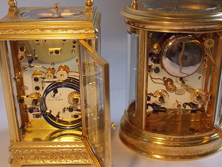 Antique Carriage Clocks. eng c c 5